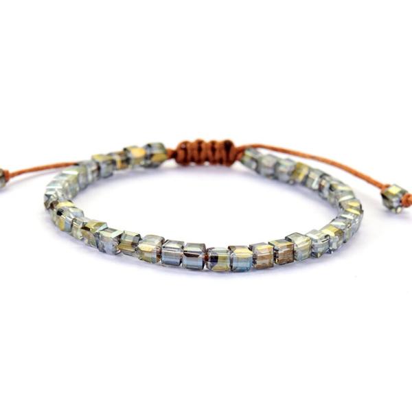 Crystal Stack seed Beads Bracelet