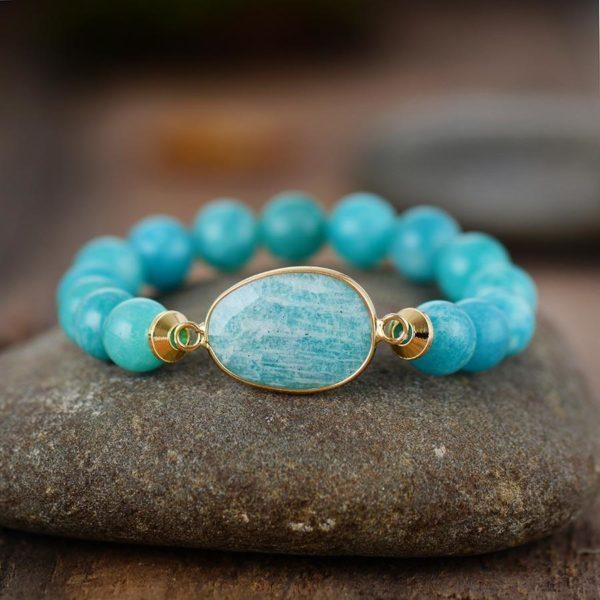 Amazonite Charm Stretchy Bracelet