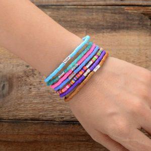 Boho Stacks Colorful seed beads bracelet