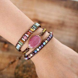 Fancy Bouquet Gemstone wrap bracelet