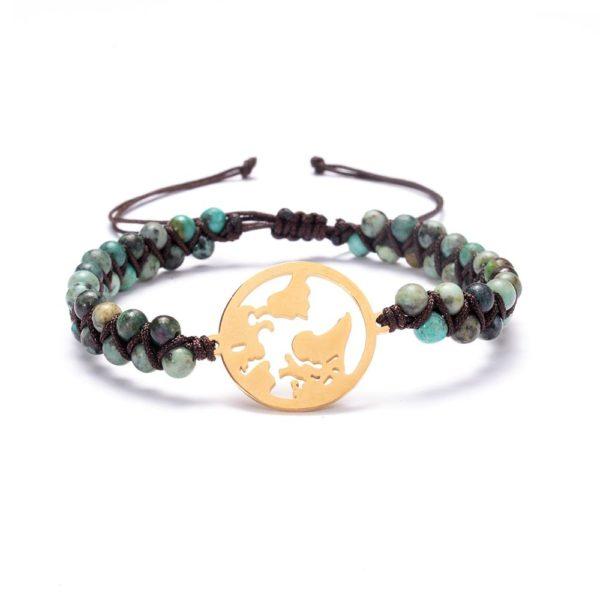 Earth Coin Braided Bracelet