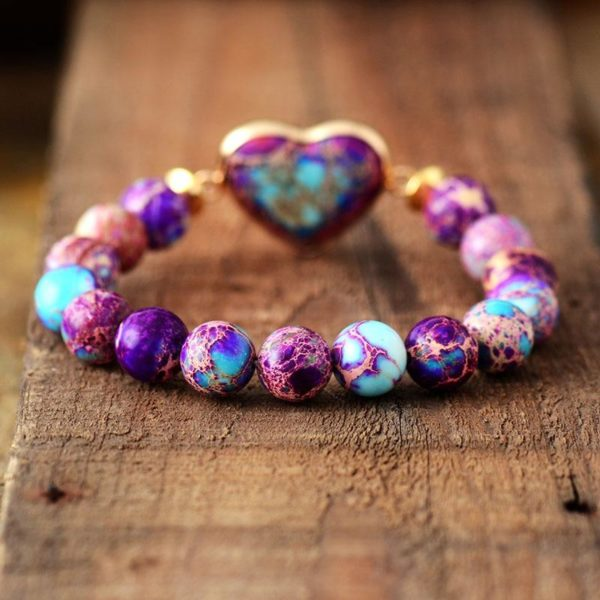 Purple Haze Jasper Beaded Bracelet