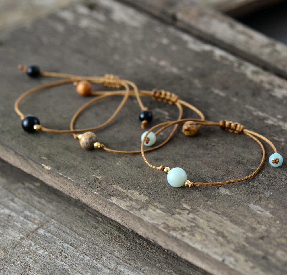 Boho BraceletsBeaded BraceletsGemstone Stacking BraceletsBoho Gypsy JewelryBeaded Boho Bracelets