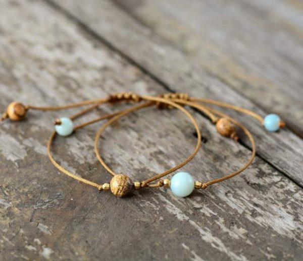 Three Beads Boho Bracelet Stacks