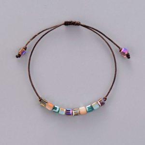 Friendship Crystal Stack Seed Beads Bracelet