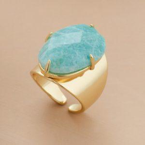Amazonite Gemstone Ring