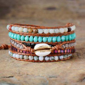 Oceana Cowrie Shell Wrap Bracelet