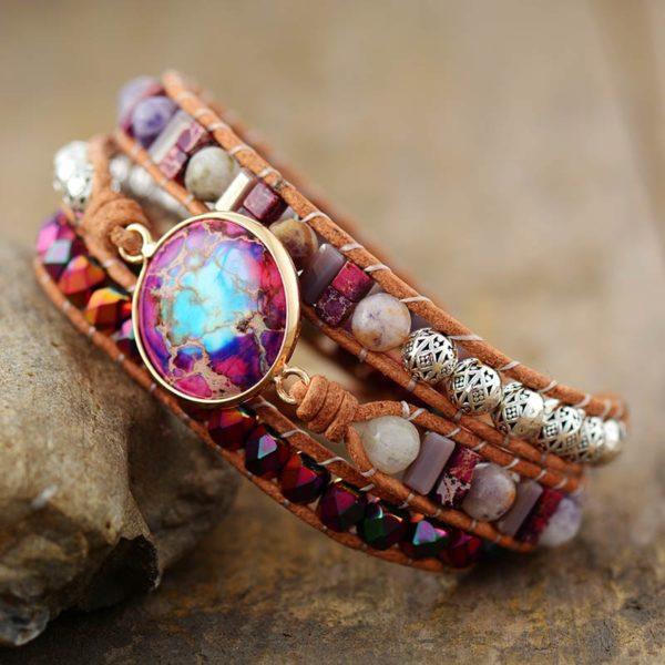 Garnet Red Jasper Bracelet