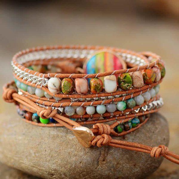 Cassia Rainbow Charm Bracelet