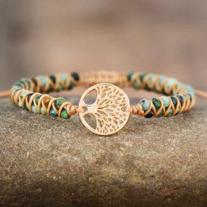 African Jasper Tree Charm Bracelets