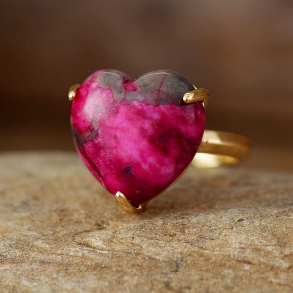 Heart Gemstone Rings Jade gemstone ring