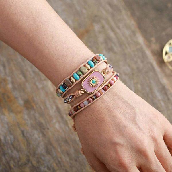 Rhodonite Wrap Bracelet