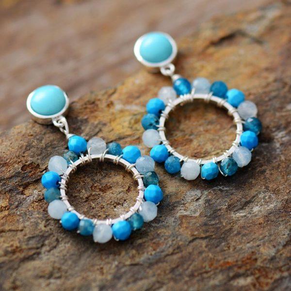 Dahlia Magic turquoise Earrings