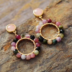Dahlia Magic Tourmaline Earrings