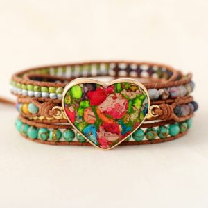 Bohemian Arts Leather Wrap Bracelet