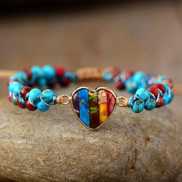 Priscilla Heart Seed Beads Bracelet