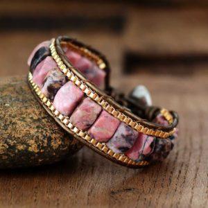 Livia Chunky Rhodonite Bracelet