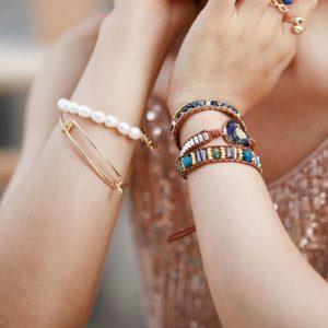Nature in Heart Bohemian Wrap Bracelet